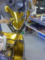 gold reflective barrier