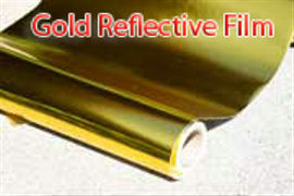 thermal protection foil and gold reflective film
