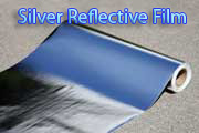 silver reflective foil designed by thermal protection