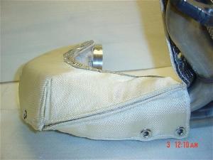 world speed exhaust pipe silver heat shields